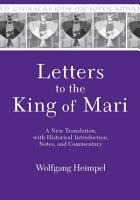 Letters to the King of Mari PDF