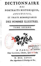 Dictionnaire des portails histoirques, anecdotes, et traits remarquables des hommes illustres