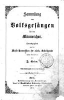 Sammlung von Volksges  ngen f  r den M  nnerchor PDF