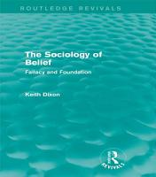 The Sociology of Belief  Routledge Revivals  PDF