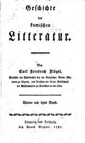 Geschichte der komischen litteratur: Band 4