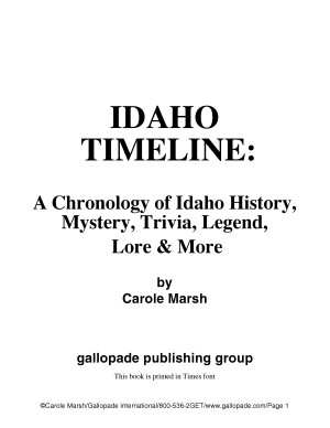 Idaho Timeline