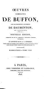 Oeuvres complètes de Buffon: avec les descriptions anatomiques de Daubenton, son collaborateur, Volume23,Partie8