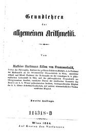 Grundlehren der allgemeinen Arithmetik. 2. Aufl