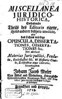 Miscellanea juridico historica  PDF