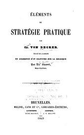 Eléments de stratégie pratique par Ch. von Decker