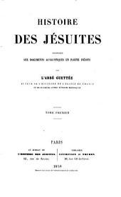 Histoire des jésuites: Volume1