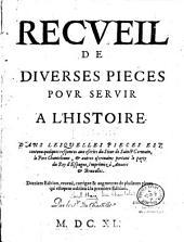 Recueil de diverses pièces pour servir à l'histoire [de 1626 à 1634]
