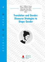 Translation and Gender  Discourse Strategies to Shape Gender PDF