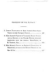 The whole works of King Alfred the Great: with preliminary essays illustrative of the history, arts, and manners, of the ninth century, Volume 2