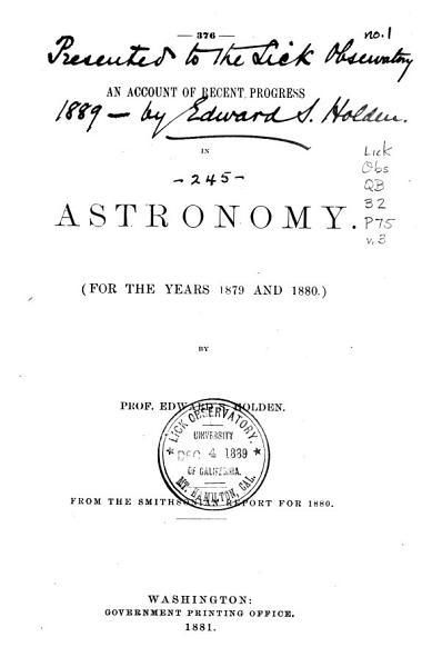 Download Progress of Astronomy Book