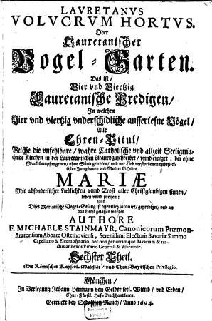 Lauretanus Volucrum Hortus Oder Lauretanischer Vogel Garten PDF