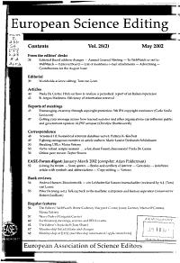 European Science Editing PDF