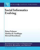 Social Informatics Evolving PDF