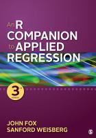 An R Companion to Applied Regression PDF
