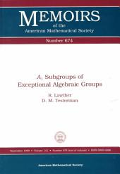 A1 Subgroups of Exceptional Algebraic Groups: Issue 674