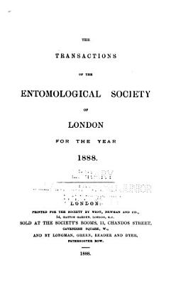 Transactions of the Royal Entomological Society of London
