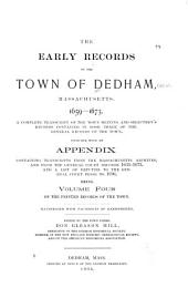 Early Records of Dedham, Massachusetts: Volume 4