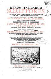 Rerum italicarum scriptores: ab annum aerae christianae quingentesimo ad millesimumquingentesimum