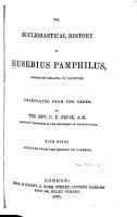 The Ecclesiastical History of Eusebius Pamphilus  Bishop of Caesarea     PDF