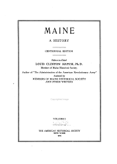 Maine: a history, Volume 1