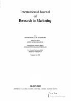 International Journal of Research in Marketing PDF