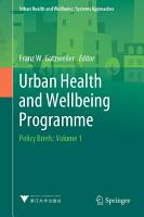 Urban Health and Wellbeing Programme PDF