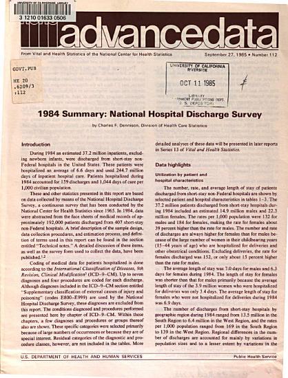 Summary  National Hospital Discharge Survey PDF