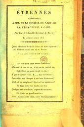 Etrennes présentées à MM. de la Société du cerf de Saint-Saveur, à Gand, par ... J. Thys. Le premier janvier 1813