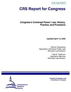 Congress¿s Contempt Power