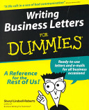 Writing Business Letters For Dummies PDF