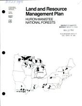 Land and resource management plan: Huron-Manistee National Forests