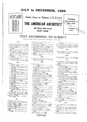 The American Architect PDF
