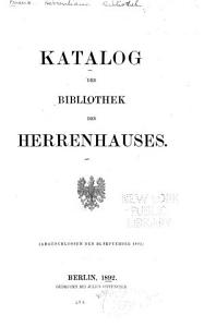 Katalog der Bibliothek des Herrenhauses PDF