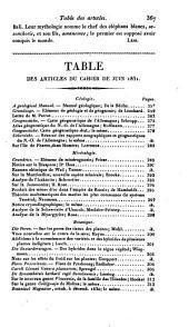 Bulletin des sciences naturelles et de géologie: Volume25