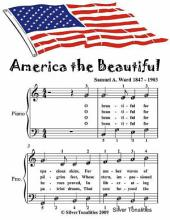 America the Beautiful - Easy Piano Sheet Music Junior Edition