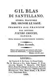 Gil Blas di Santillano: storia piacevole del Signor Le Sage, Volume 2