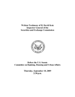 Oversight of the SEC s Failure to Identify the Bernard L  Madoff Ponzi Scheme and How to Improve SEC Performance PDF