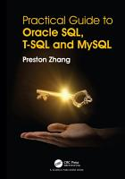 Practical Guide for Oracle SQL  T SQL and MySQL PDF