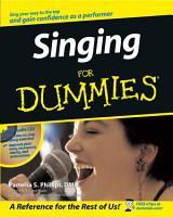 Singing For Dummies PDF