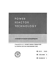 Power Reactor Technology Book
