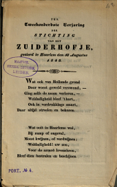 Ter tweehonderdste verjaring der stichting van het Zuiderhofje, gevierd te Haarlem den 10 augustus 1840