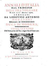 Annali d'Italia, dal principio dell'era volgare sino all'anno: Volume 7