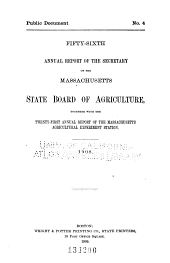 Annual Report of the Secretary of the Massachusetts State Board of Agriculture: Volume 56, Part 1908