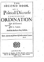 The Prerogative of Popular Governement  A Politicall Discourse in Two Books  The Former Containing the First Pr  liminary of Oceana     The Second Concerning Ordination  Against Dr  H  Hamond  Dr  L  Seaman  and the Authors They Follow     By Jamaes Harrington     PDF