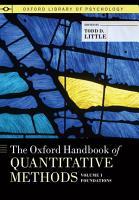 The Oxford Handbook of Quantitative Methods  Volume 1  Foundations PDF