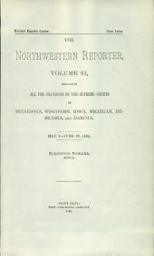 The Northwestern Reporter: Volumes 23-24