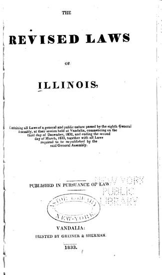 The Revised Laws of Illinois PDF