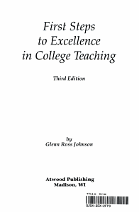 First Steps to Excellence in College Teaching PDF
