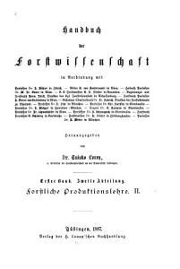 Handbuch der Forstwissenschaft PDF
